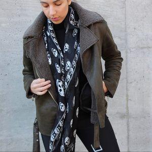 Urban Outfitters Faux Shearling Moro Coat